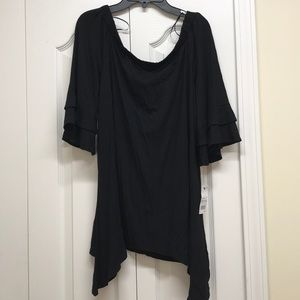 NY collection black top with ruffles sleeves